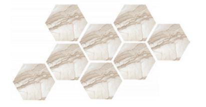 Prospero Golden Hexagonal Mosaic Tile